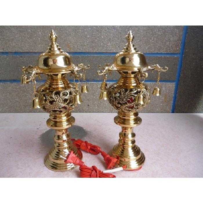 Đèn thờ gia tiên bằng đồng 30cm