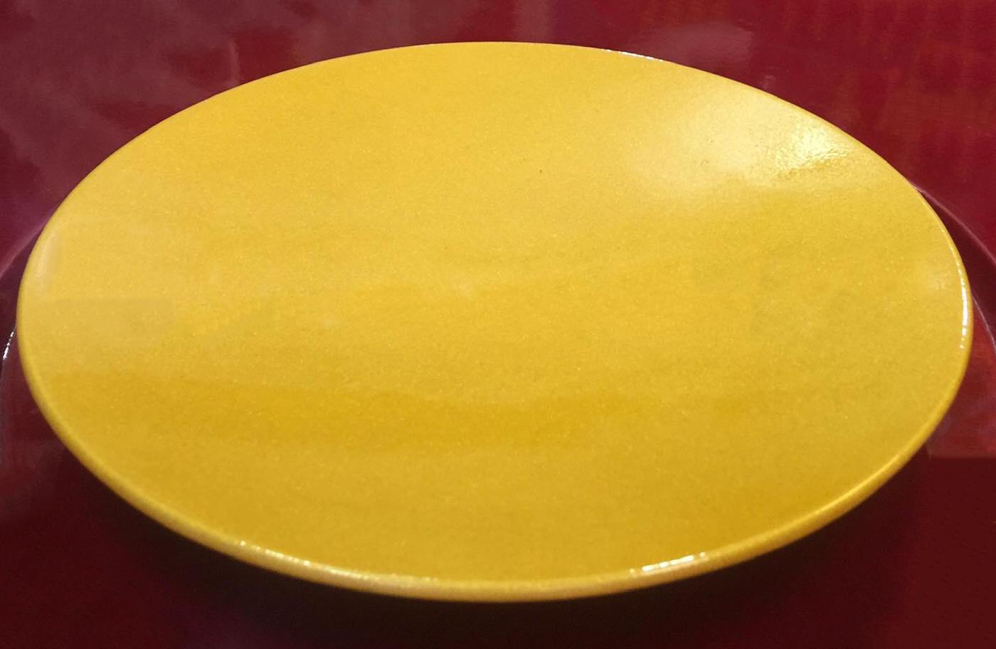 Đĩa sơn mài màu vàng loại dầy bền đẹp