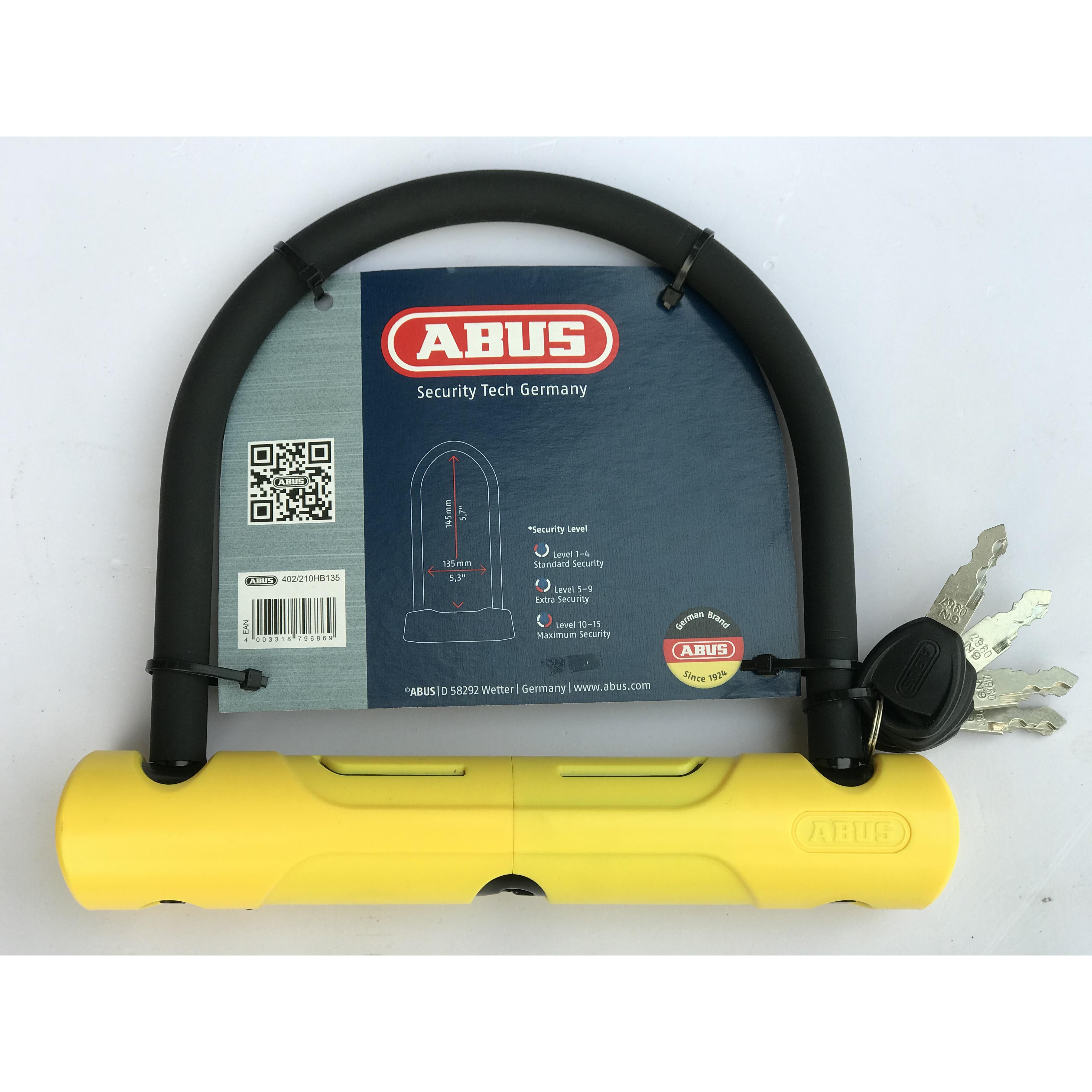 Khóa u siêu chống cắt chính hãng ABUS - CHLB Đức tặng khóa tủ cá nhân