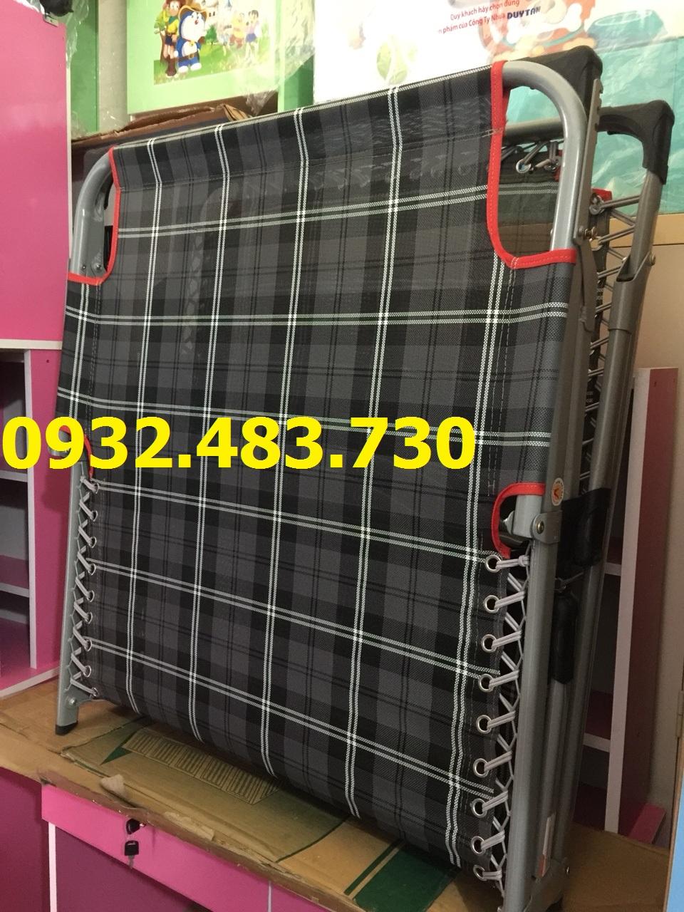 Giường xếp cao cấp Sakuma ngang 85cm dài 1m9 cao 30cm màu đen