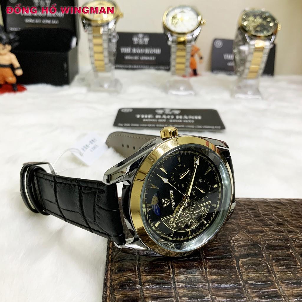 Đồng hồ nam Tevise T795 chính hãng Automatic, full box và thẻ bảo hành 3 năm, chống xước chống nước, dây da