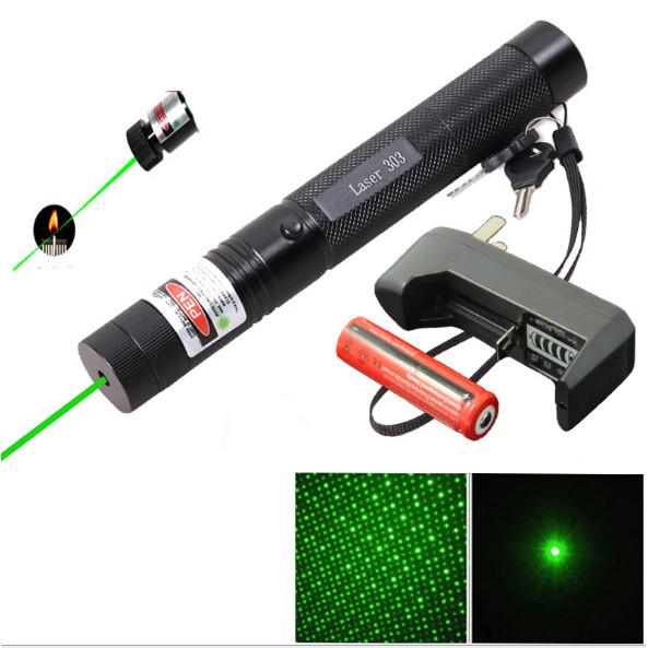 Đèn laser 303 ánh sáng chiếu xa HR (tặng kèm sạc và pin )