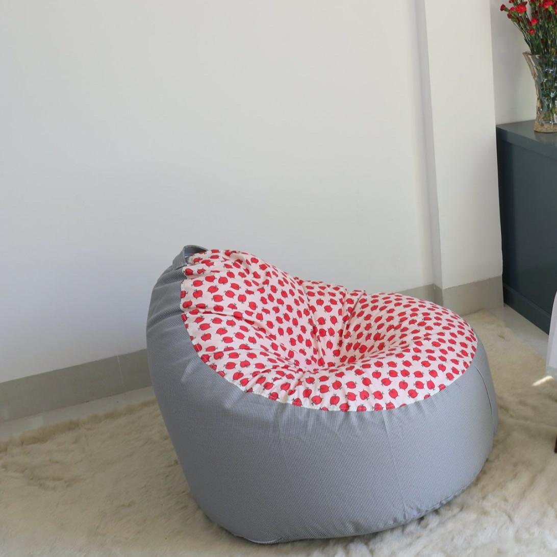 Ghế lười Sofa Kid táo đỏ phối caro - HD-SK-DCR