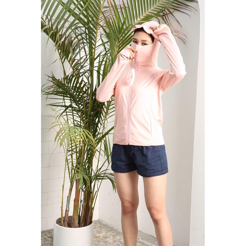 Áo chống nắng thông hơi túi cuộn NỮ chống tia UV