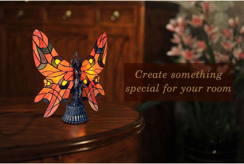 Đèn bàn trang trí Tiffany Butterfly Lady