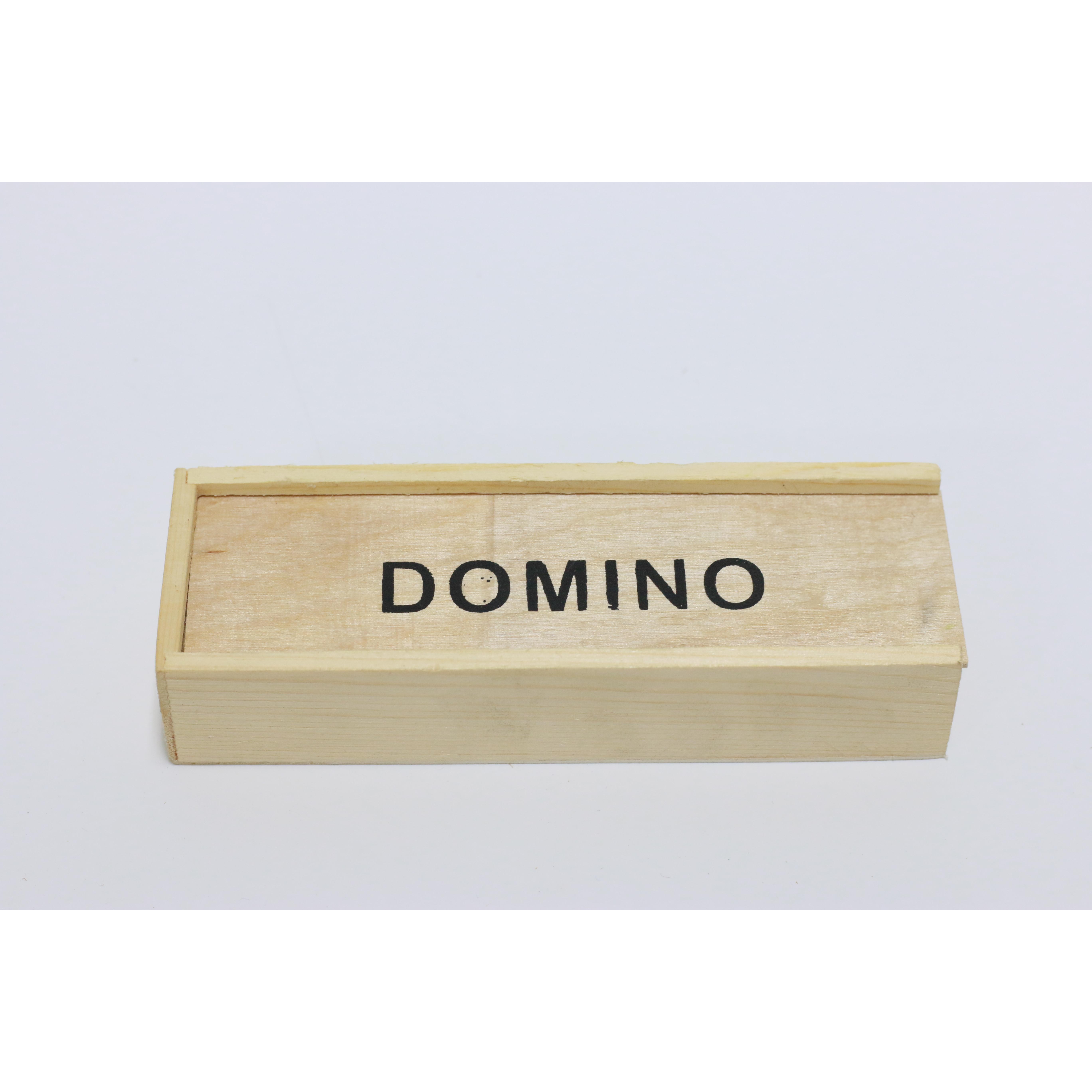 Bộ đồ chơi Domino hộp gỗ mini