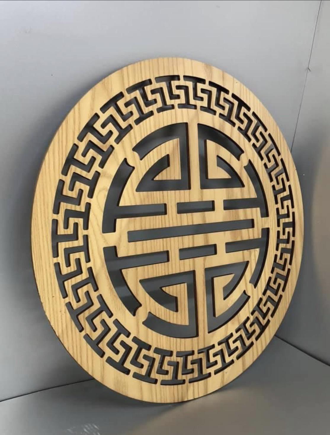 Tấm trang trí ốp lưng bàn thờ treo tường BH604