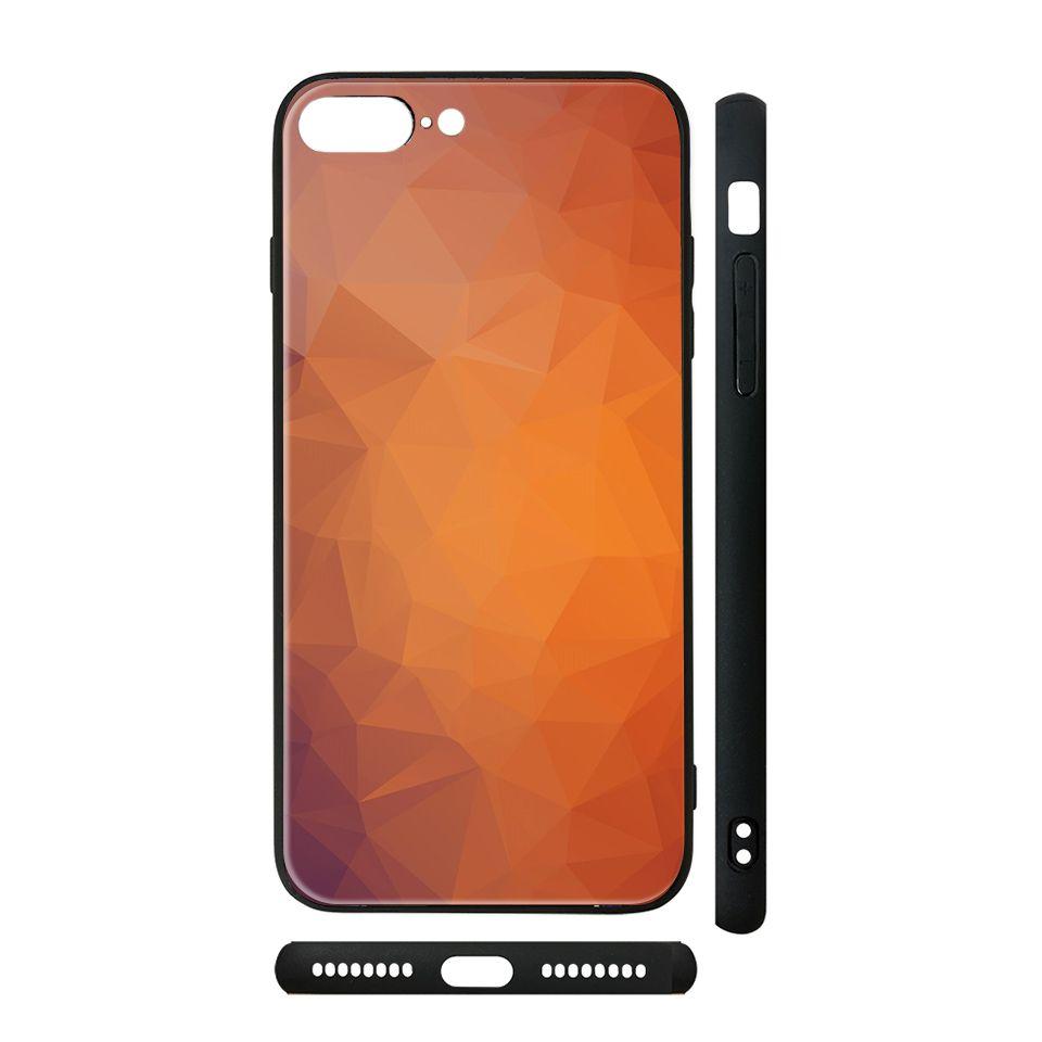 Ốp kính cho iPhone in hình Vân kim cương - BG0012 có đủ mã máy - iPhone XR