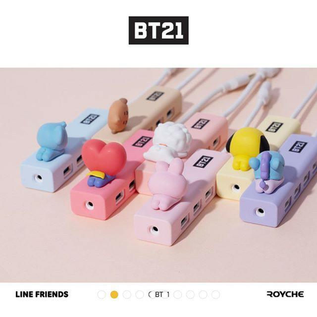 BỘ CHIA USB HUB BT21 LINE AND FRIENDS - HÀNG CHÍNH HÃNG