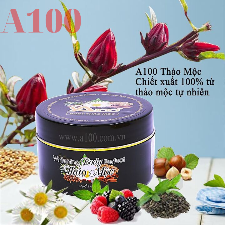 Combo 3 kem dưỡng body thảo mộc A100 chính hãng