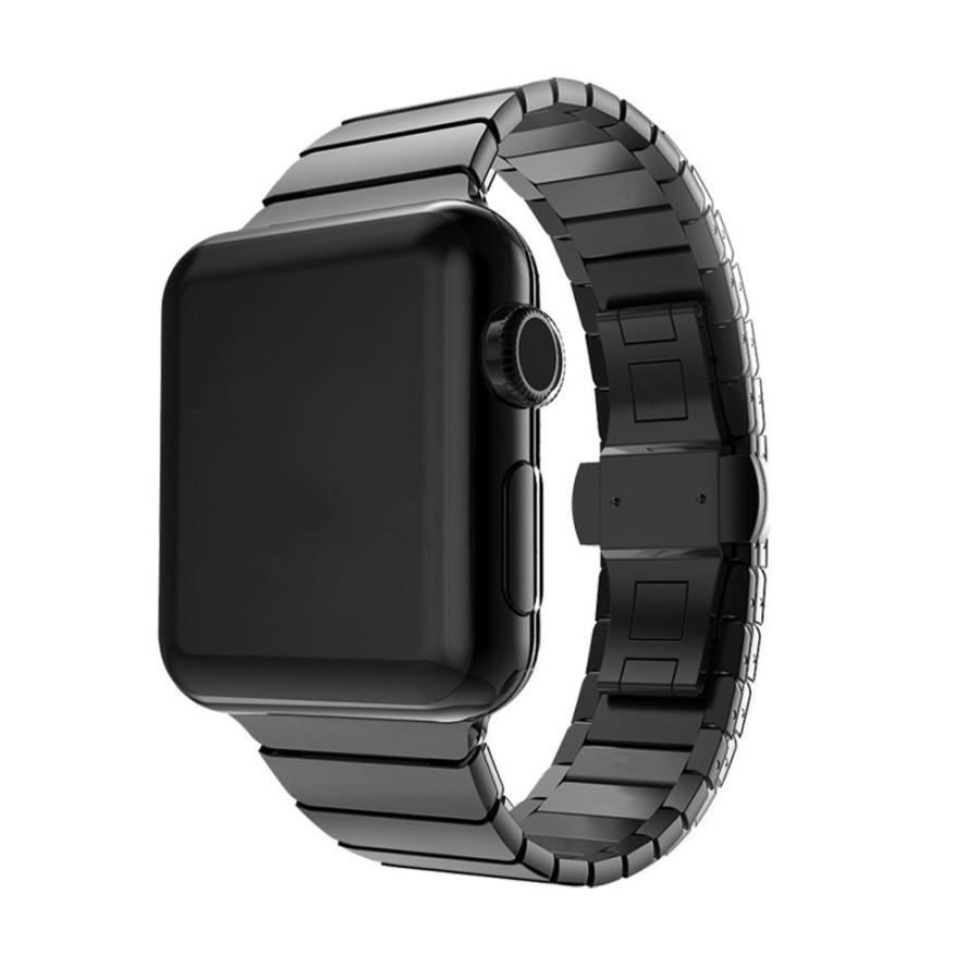 Dây cho đồng hồ Apple Watch 44/42/40/38mm thép không gỉ Link Bracelet khóa bướm