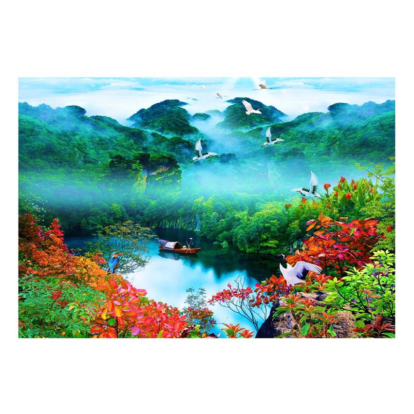 Tranh Dán Tường Sơn Thủy 3D ST0125