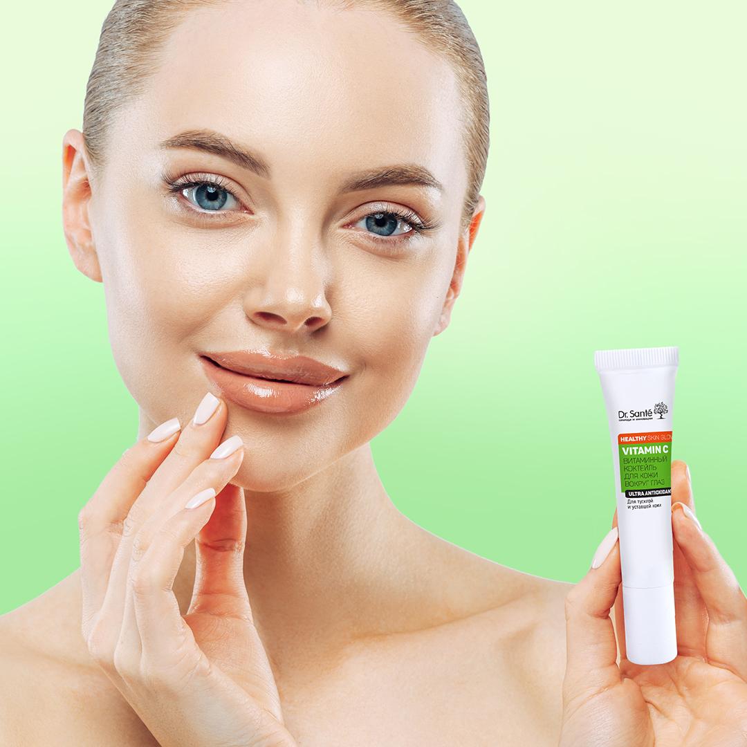 Kem dưỡng Dr.Sante Vitamin C làm mờ nếp nhăn vùng da quanh mắt 15ml