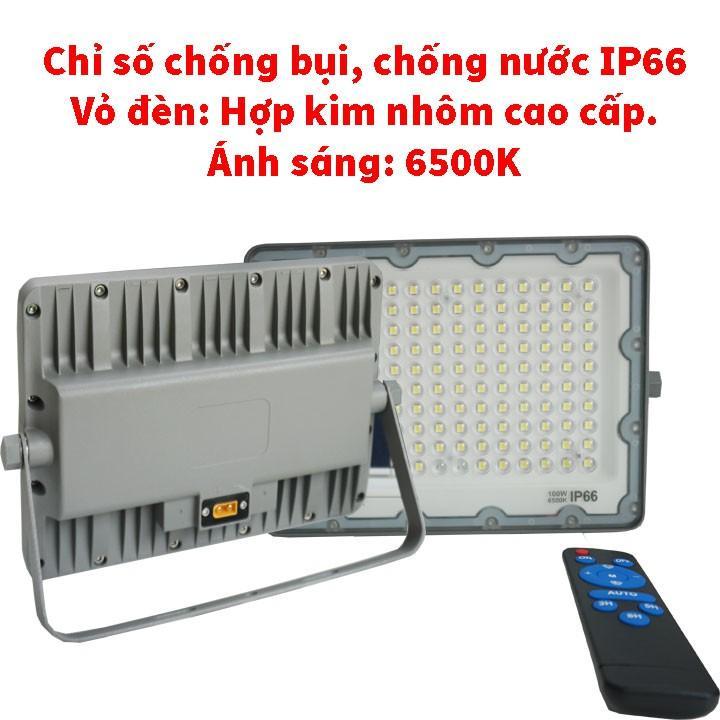 Đèn pha năng lượng mặt trời Xenon Deluxe cao cấp chính hãng DL03-100W