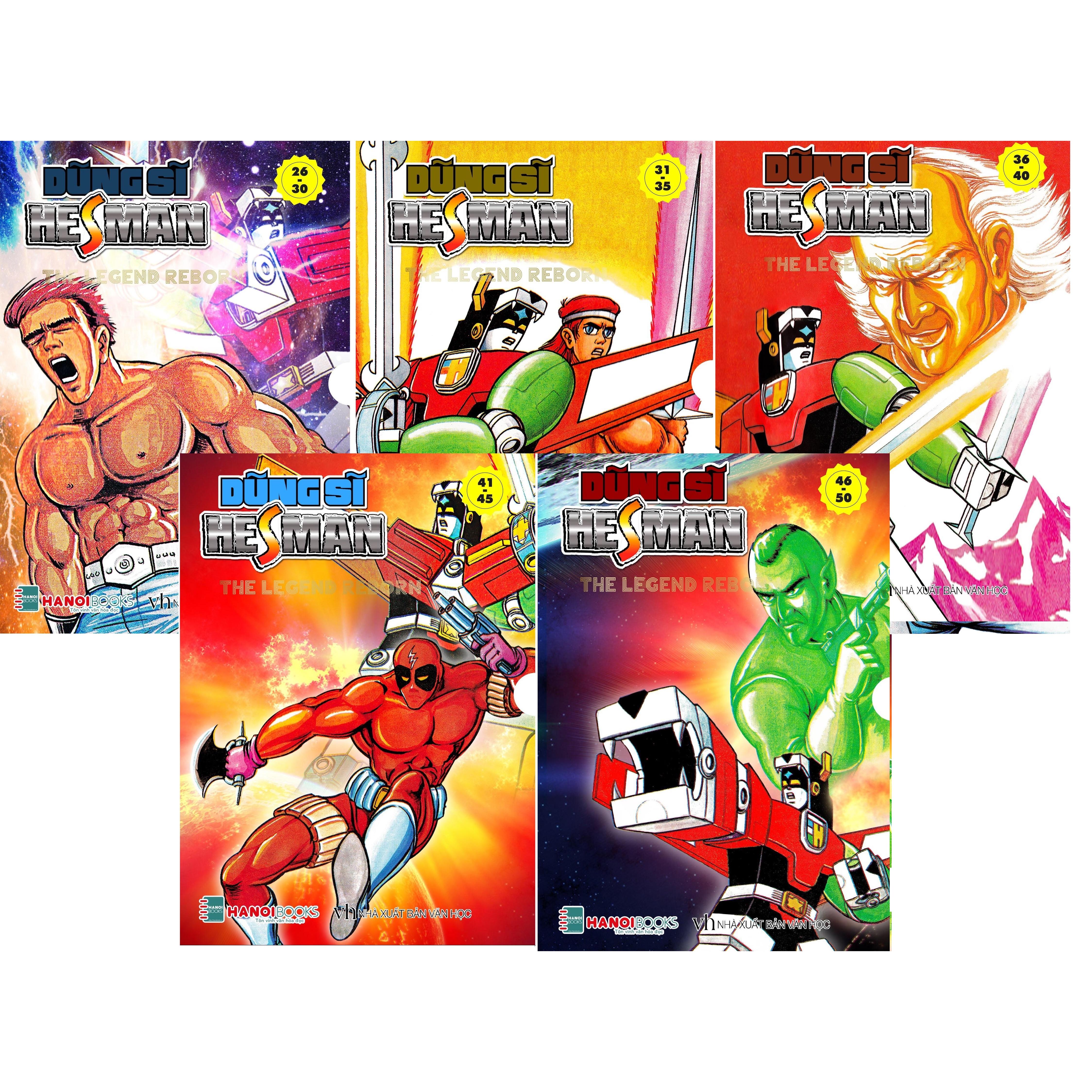 Dũng sĩ Hesman - Combo 5 Box 6,7,8,9,10 (từ tập 26-50)