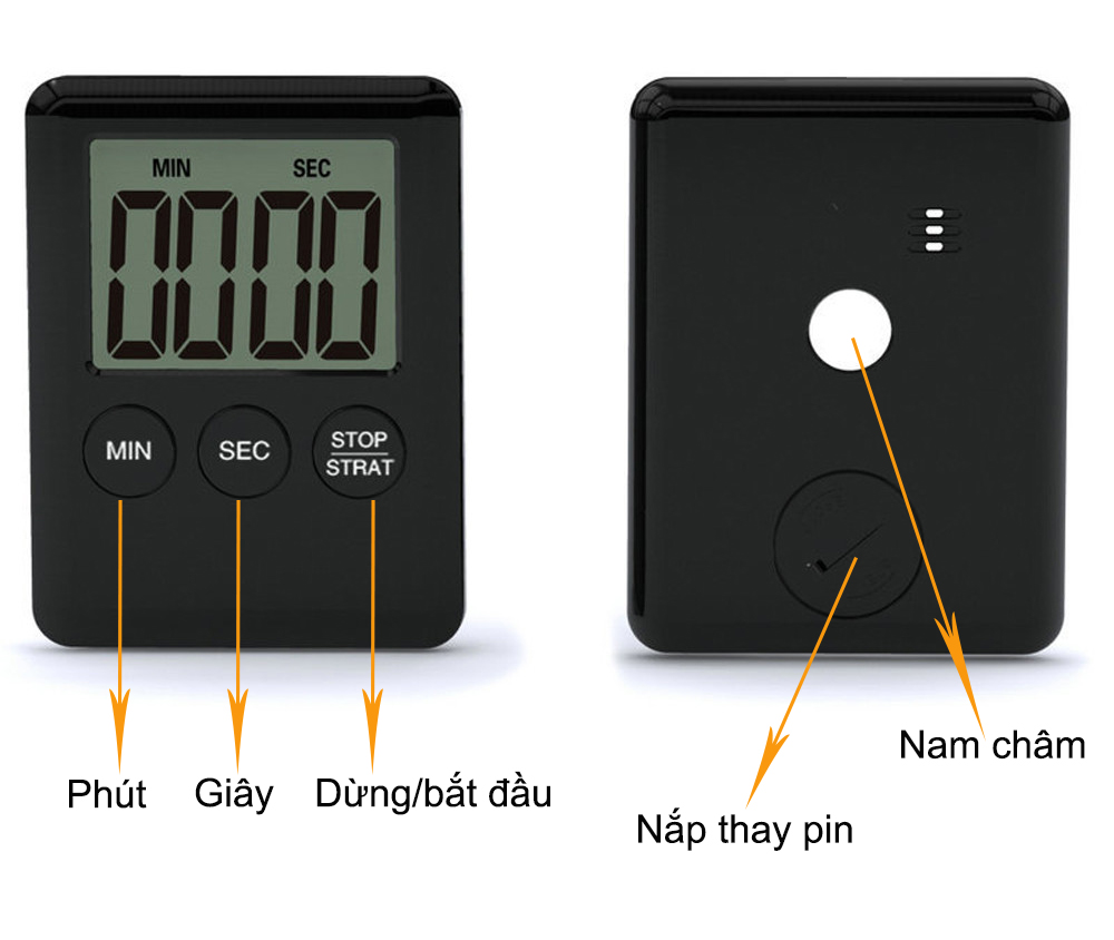 Đồng hồ bấm giờ đếm ngược mini M2