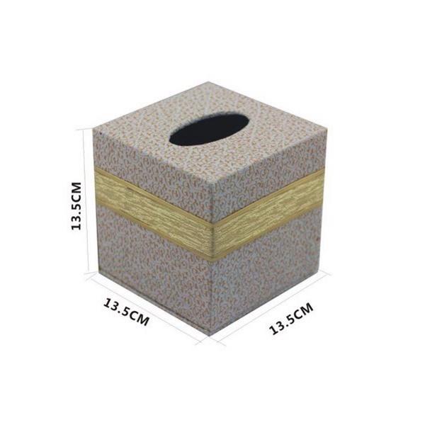 Hộp đựng giấy ăn, khăn giấy hình vuông cho bàn ăn golden (Màu ngẫu nhiên)
