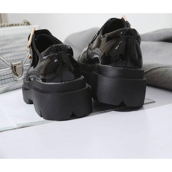 Giày Da Oxford Đế Độn 5cm Êm Chân Mery Shos- MBS216