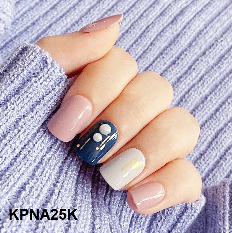Bộ 30 Móng Tay Gel Dán Press & Go Kiss New York Nail Box - Sapphire Ring (KPNA25KA)