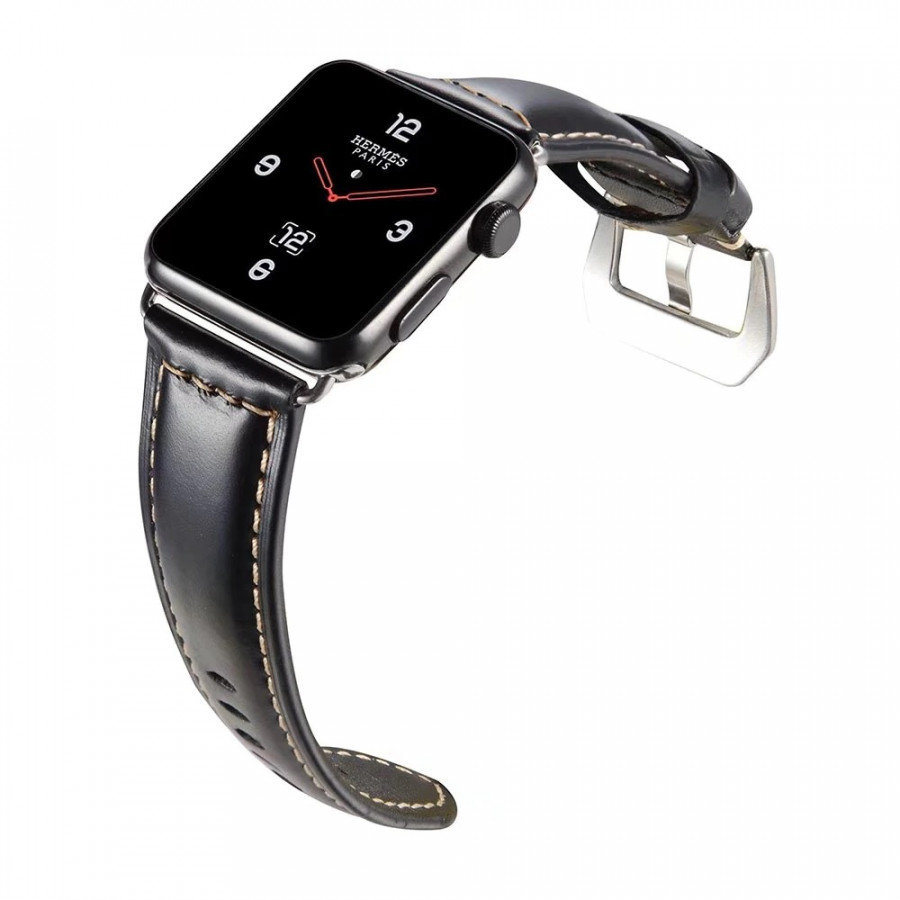 Dây da đeo thay thế cho đồng hồ Apple Watch 38mm / 40mm hiệu Kakapi da bò thật - Hàng chính hãng