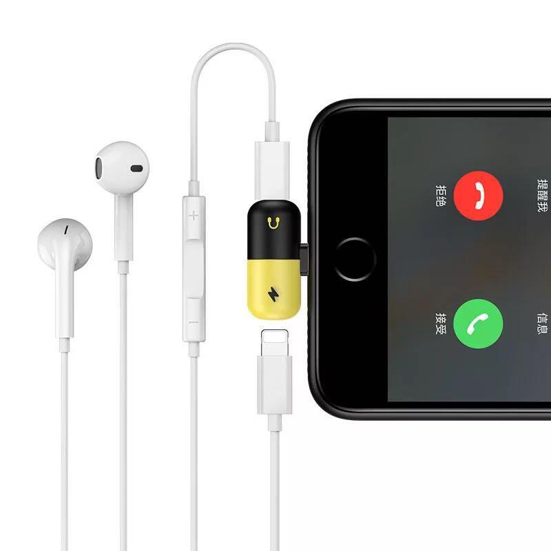 Jack Chuyển 2 in 1 Hình Viên Thuốc Cho iPhone