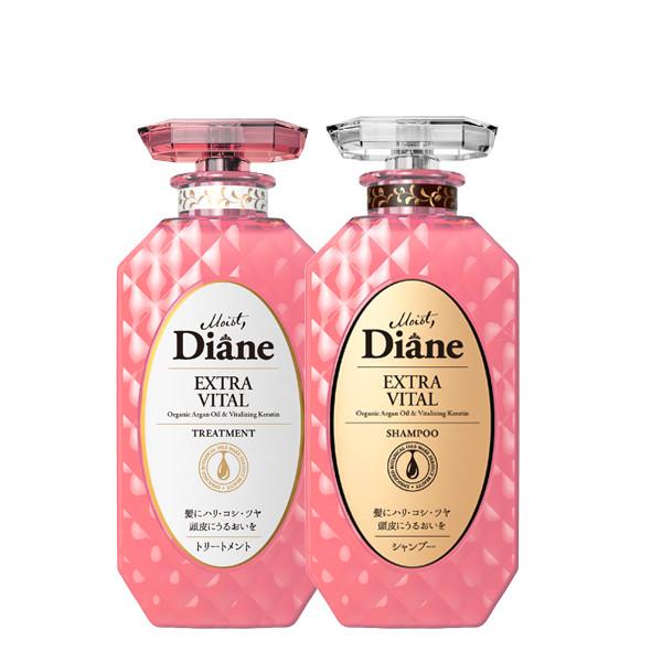 Bộ dầu gội & xả tăng cường sức sống cho tóc yếu Moist Diane Extra Vital (450ml*2)