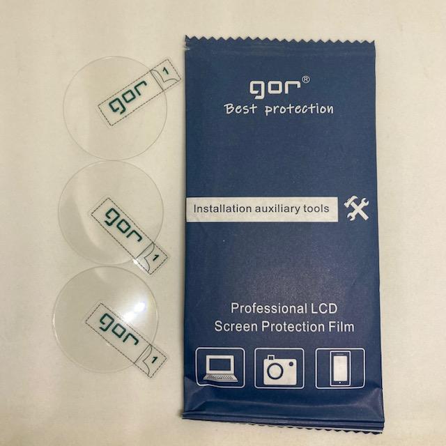 Bộ 3 kính cường lực đồng hồ Garmin Forerunner 245 / 245 Music chính hãng Gor