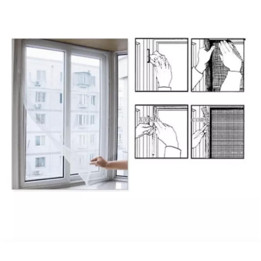 Rèm chống muỗi và côn trùng cửa sổ Mosquito Control thông minh 85x140cm