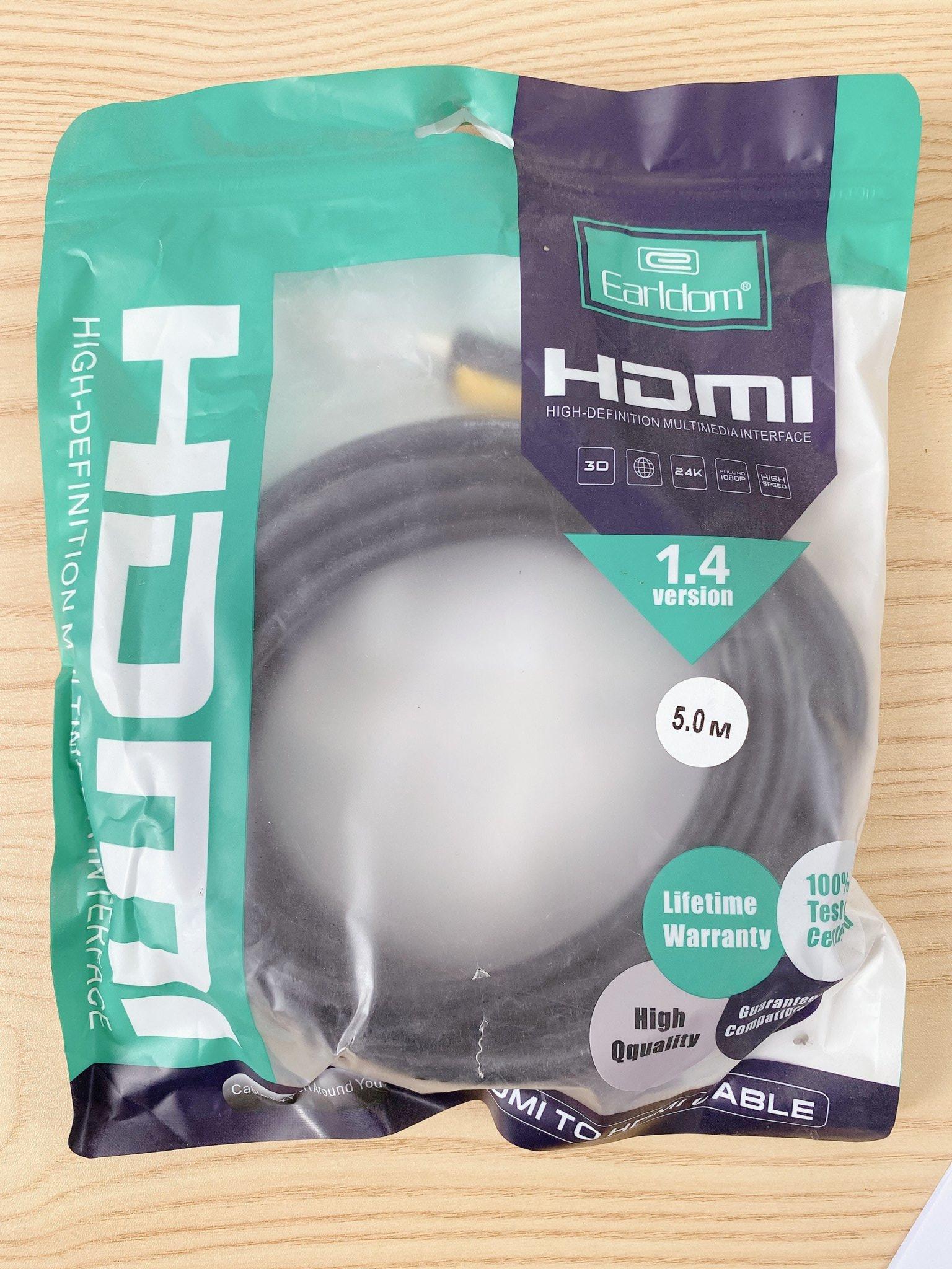 Cáp HDMI Earldom W09 dài 5m hàng chính hãng