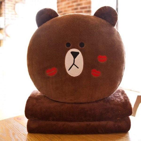 Gấu Bông Gối Ôm Ohmnix Gấu Brown, Thỏ Cony, Vịt Vàng Siêu Mịn