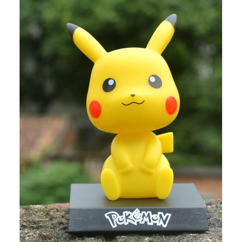 Tượng trang trí Pikachu lắc đầu 12cm (Chọn hình)