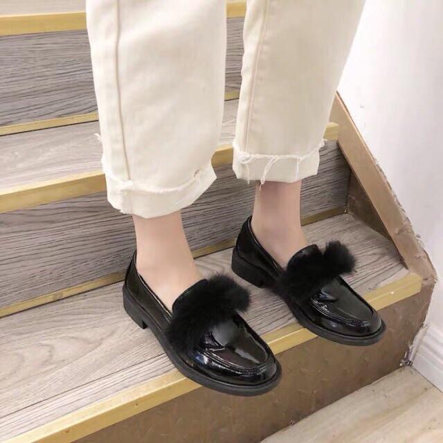 Giày oxford da bóng 4 chi tiết ( form rộng hơn 1 size )