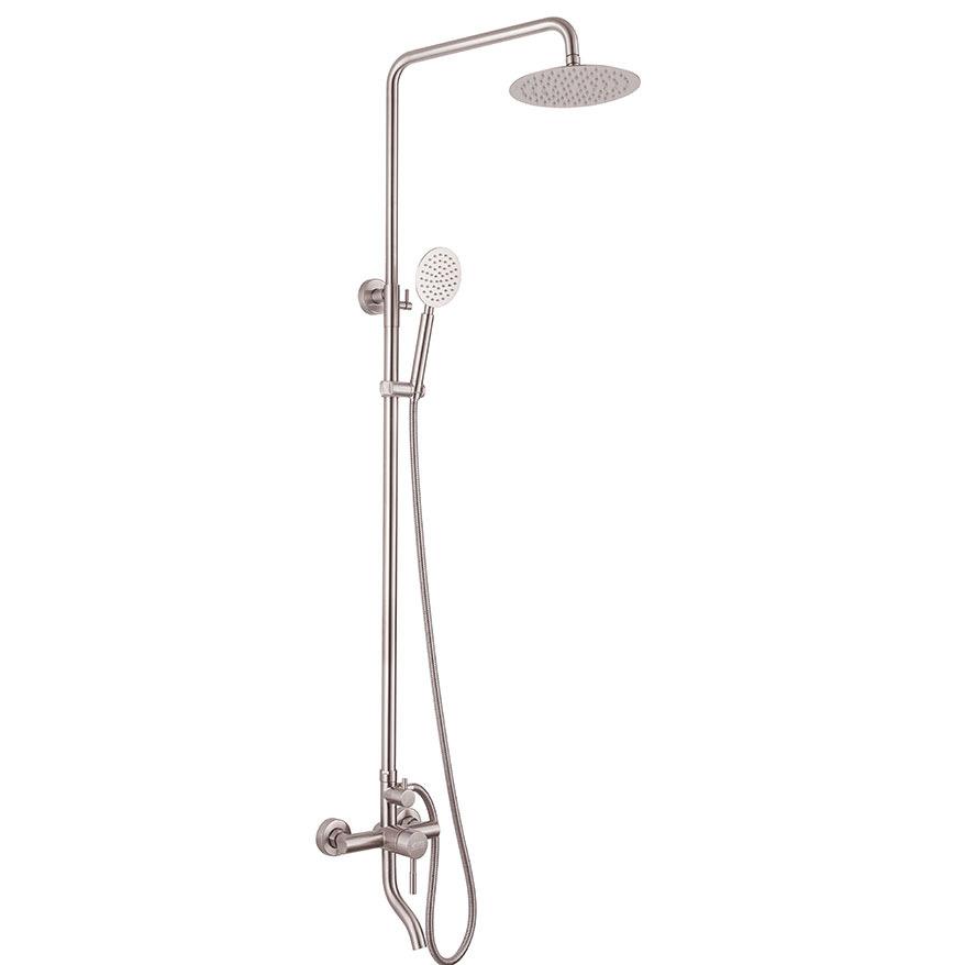 Bộ sen cây tắm đứng nóng lạnh Inox SUS 304 Eurolife EL-S918 (Trắng vàng)
