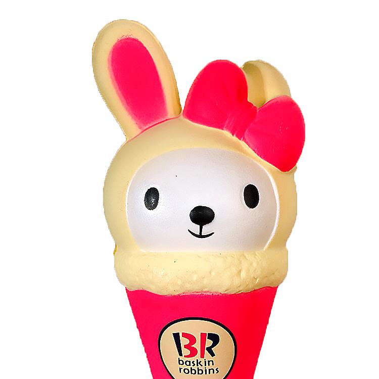 Squishy kem thỏ, squishy chậm tăng mùi thơm dịu nhẹ, đồ chơi cho bé trai và bé gái