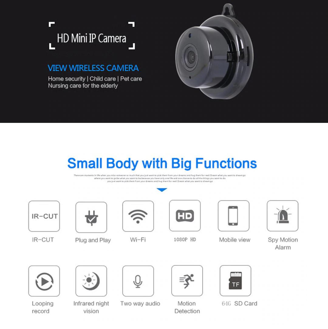 Camera IP Wifi Mini E06-Q2 Full HD 1080P Kết Nối Không Dây Với Điện Thoại AZONE