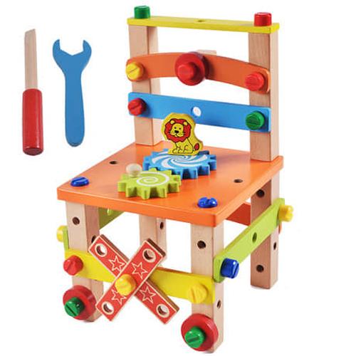 Bộ đồ chơi lắp ráp mô hình bằng gỗ cho bé