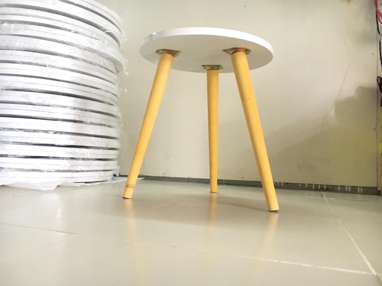 Bàn trà, bàn sofa tròn trắng 40x50, bàn cafe phòng khách, bàn coffee, bàn gỗ cà phê