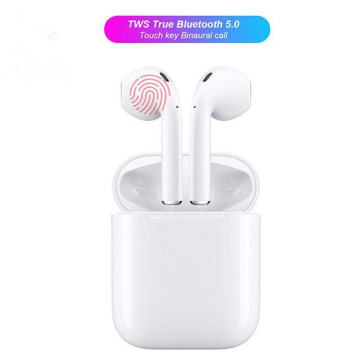 Tai Nghe Bluetooth i12 TWS cảm biến vân tay - BH 1 đổi 1