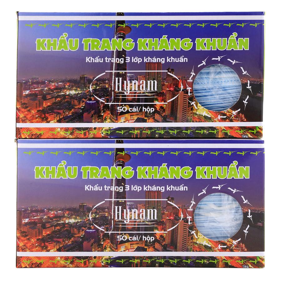 Combo 2 Hộp Khẩu Trang Kháng Khuẩn Hy Nam (Hộp 50 Tờ) - 9202148398242,62_167536,66000,tiki.vn,Combo-2-Hop-Khau-Trang-Khang-Khuan-Hy-Nam-Hop-50-To-62_167536,Combo 2 Hộp Khẩu Trang Kháng Khuẩn Hy Nam (Hộp 50 Tờ)