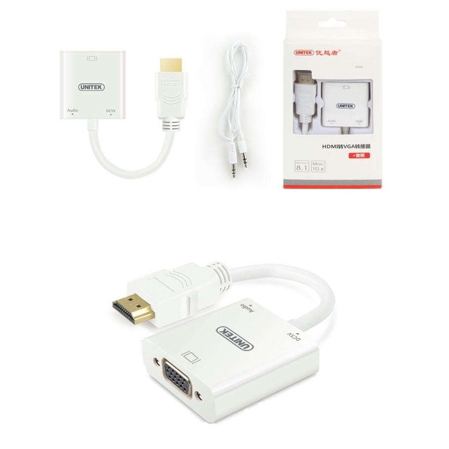 Cáp  HDMI To VGA+Audio Unitek (Y-C6333)  - HÀNG CHÍNH HÃNG