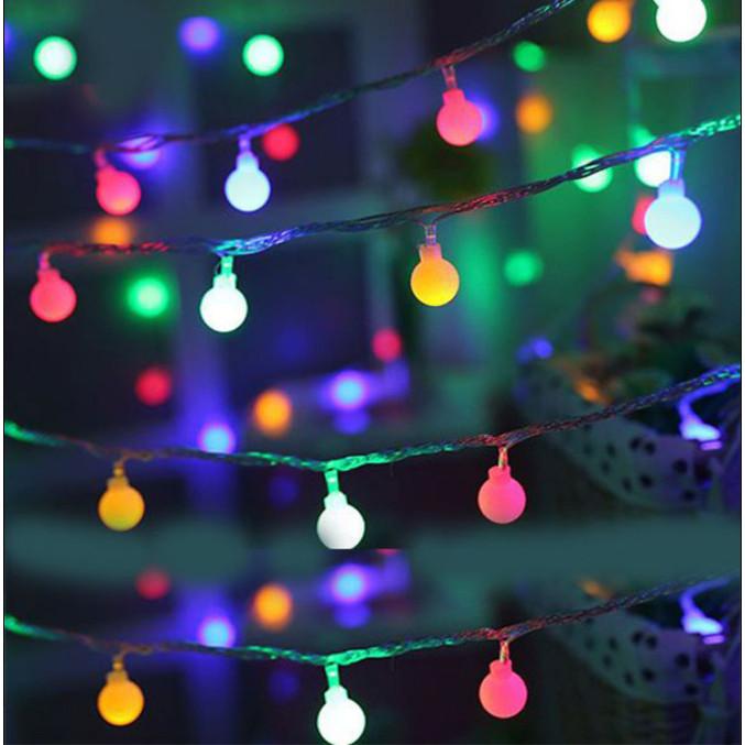 Dây đèn led chipsling ball trang trí nhà cửa, noel, lễ hội bóng tròn nhỏ 2cm