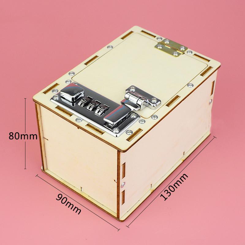 Bộ đồ chơi khoa học tự làm két sắt tiết kiệm bằng gỗ – DIY Wood Steam