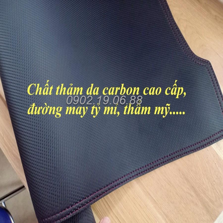 THẢM TAPLO DA VÂN CARBON DÀNH CHO KIA MRRNING 2009 - 2012