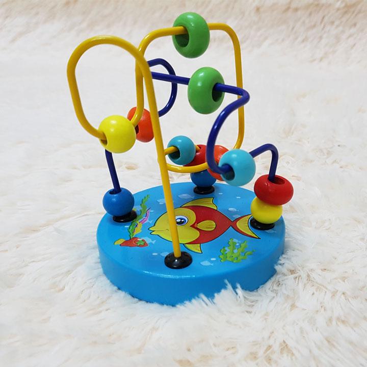 Combo CB007  Bộ 3 món luồn hạt, tháp xếp tròn  5 tranh cho trẻ trên 2 tuổi