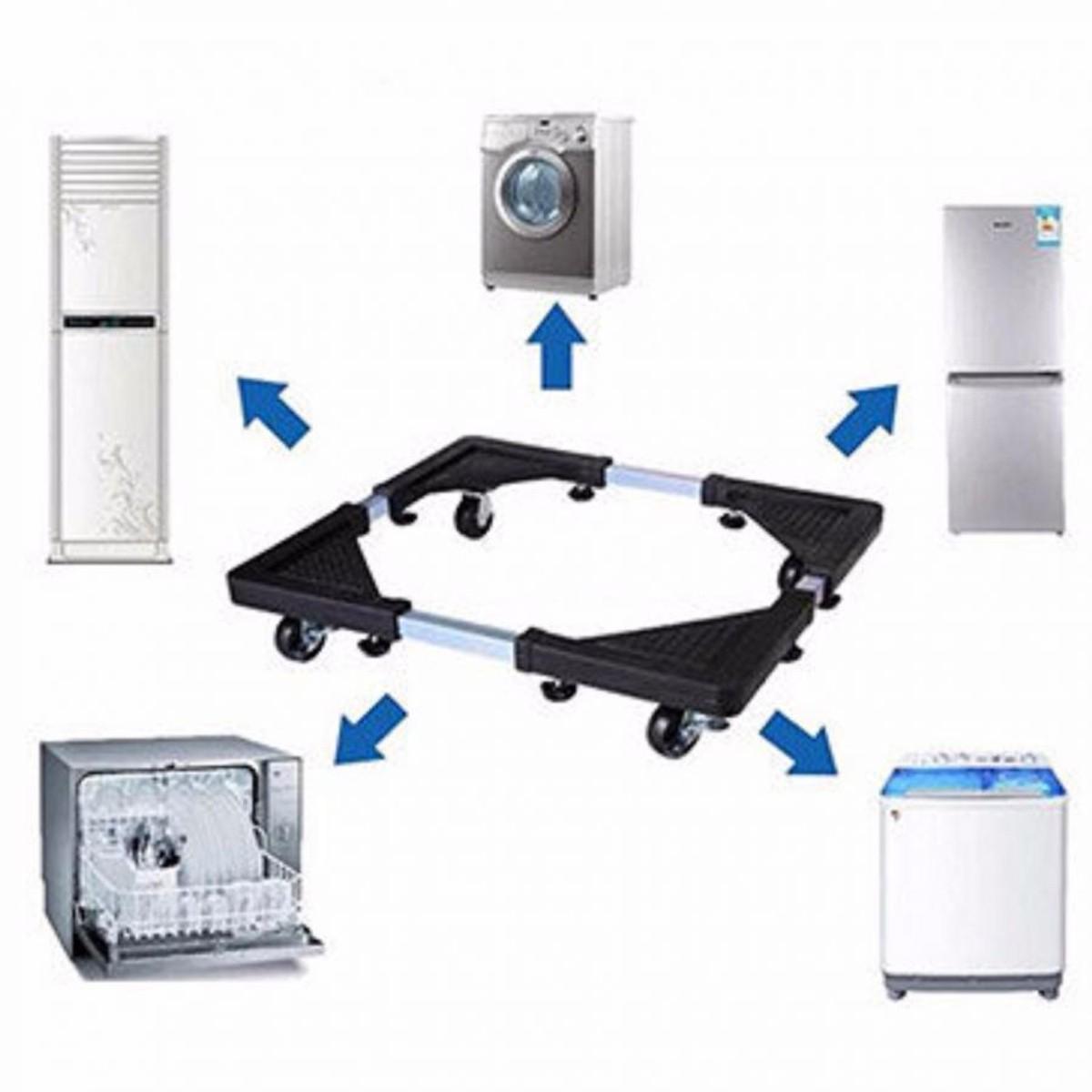 Kệ máy giặt, tủ lạnh thông minh,đa năng điều chỉnh được kích thước - Kệ chân  tủ lạnh máy giặt - chân kê tủ lạnh đa năng   Tiki