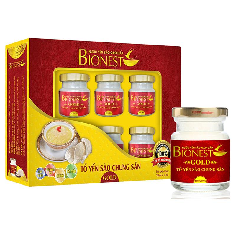 Hộp Yến sào Bionest Gold cao cấp - hộp 6 lọ