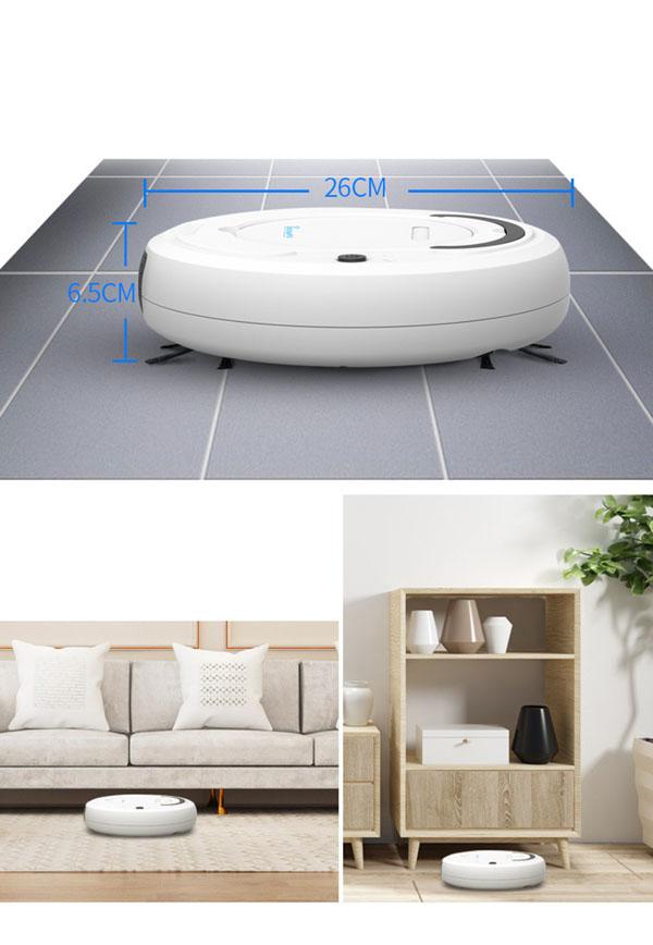 Robot Hút Bụi - Robot Tự Động Lau Nhà Thông Minh Thế Hệ Mới Công Nghệ AI, Máy Hút Bụi Mini Cao Cấp 3 Trong 1: Quét Nhà, Hút Bụi Và Lau Nhà.