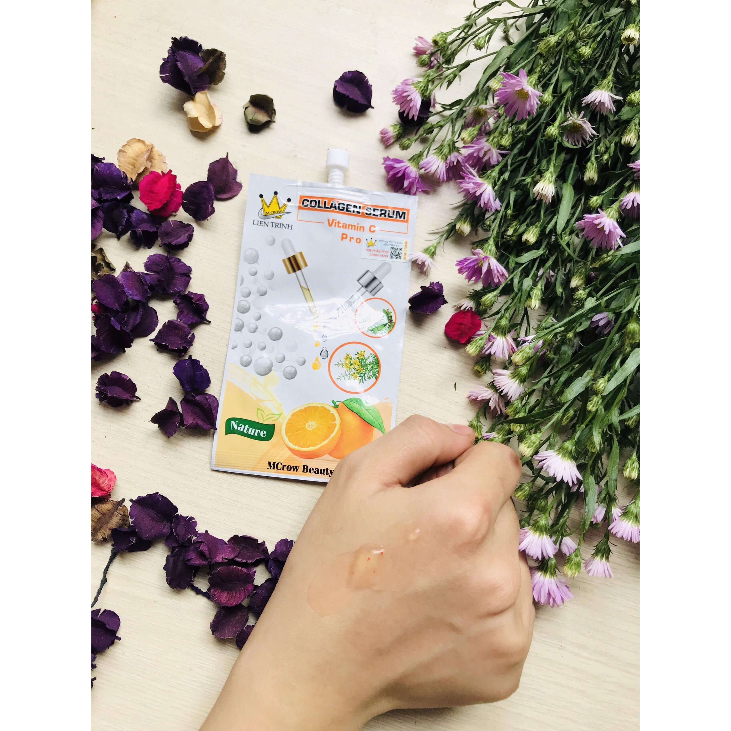 Serum Cấp Ẩm Da, Sáng Da, Chỗng Lão Hóa MCROW Collagen VitC Hộp 6 Gói 48g