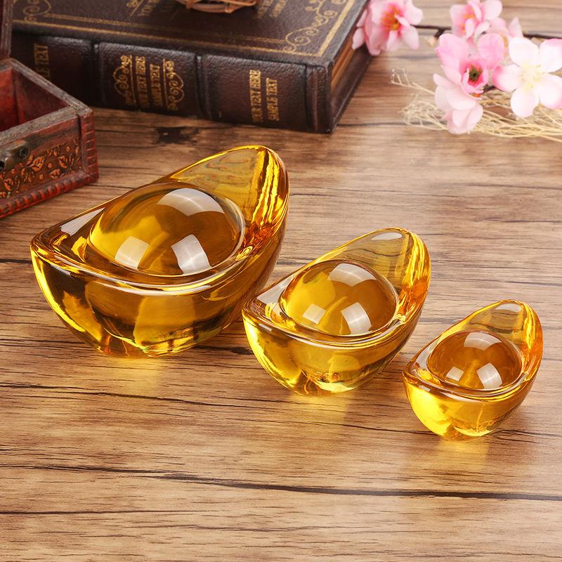 Kim Nguyên Bảo size 4cm - Thỏi vàng phong thủy Thần Tài may mắn
