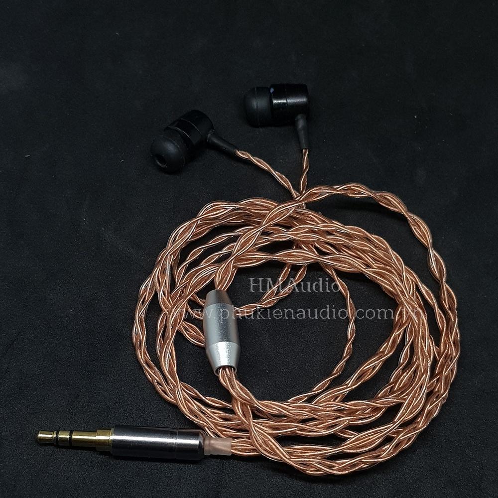 Dây tai nghe đồng OFC 1.0mm tết 4 - Connetor MMCX/ 2pin 0.78mm/ A2DC/ IM01/02/03/50/70